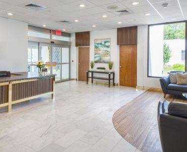 Front lobby at Oasis Rehabilitation and Nursing on Long Island