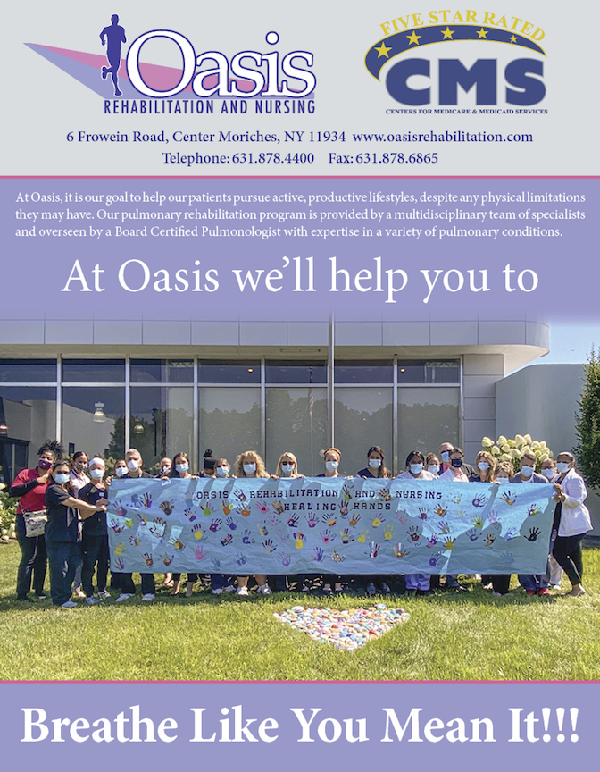 At Oasis we help you breath like you mean it. Pulmonary care flyer.